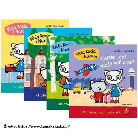 """Cztery książeczki serii """"Kicia Kocia i Nunuś""""."""
